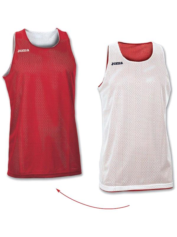 CAMISETA TIRANTS REVERSIBLE CBSF BLANCO/ROJO