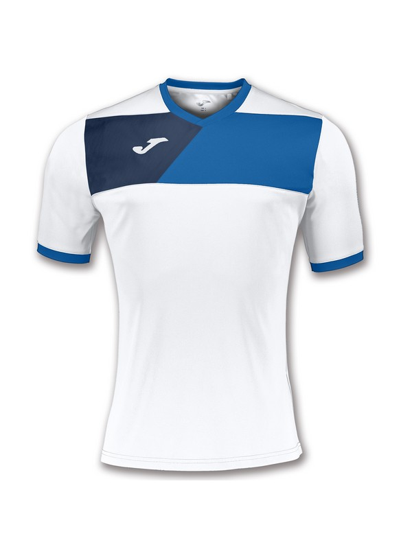 JOMA CAMISETA CREW II M/C BLANCO-ROYAL