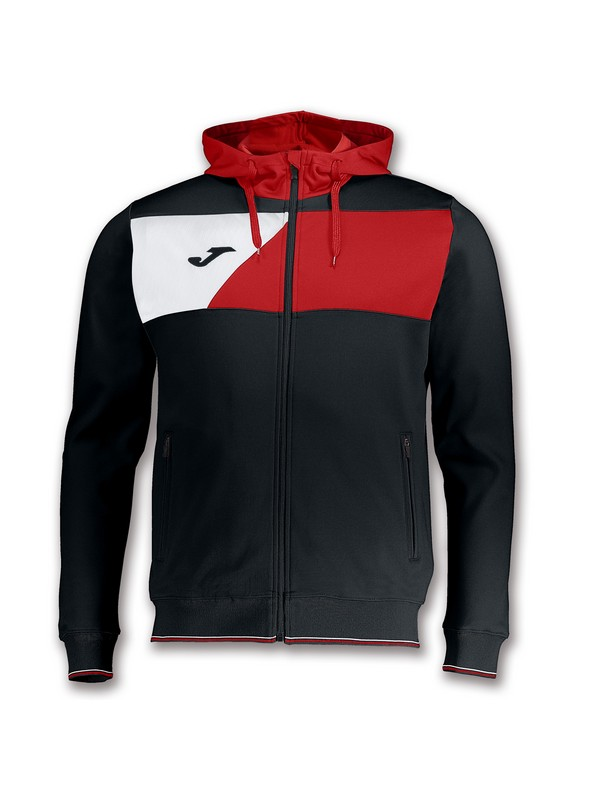 JOMA CHAQUETA CREW HOODED BLACK-RED