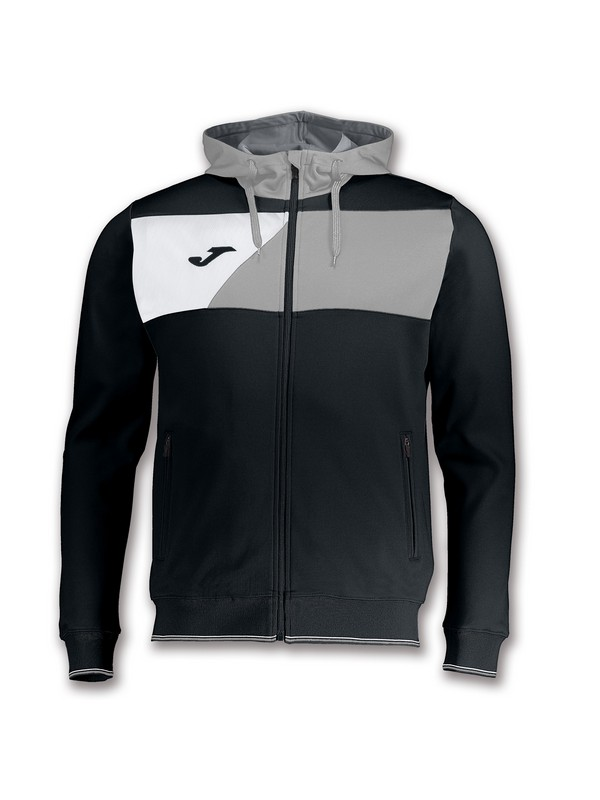 JOMA CHAQUETA CREW HOODED BLACK-GREY