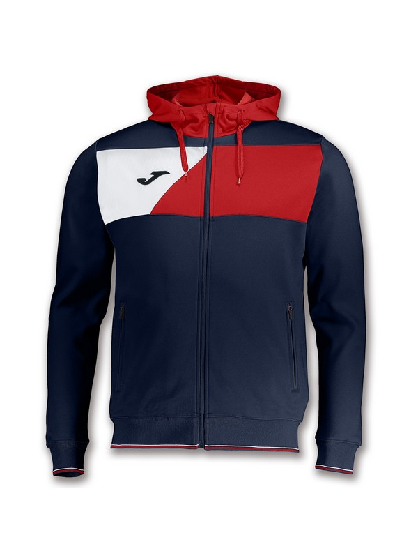 JOMA CHAQUETA CREW HOODED NAVY-RED