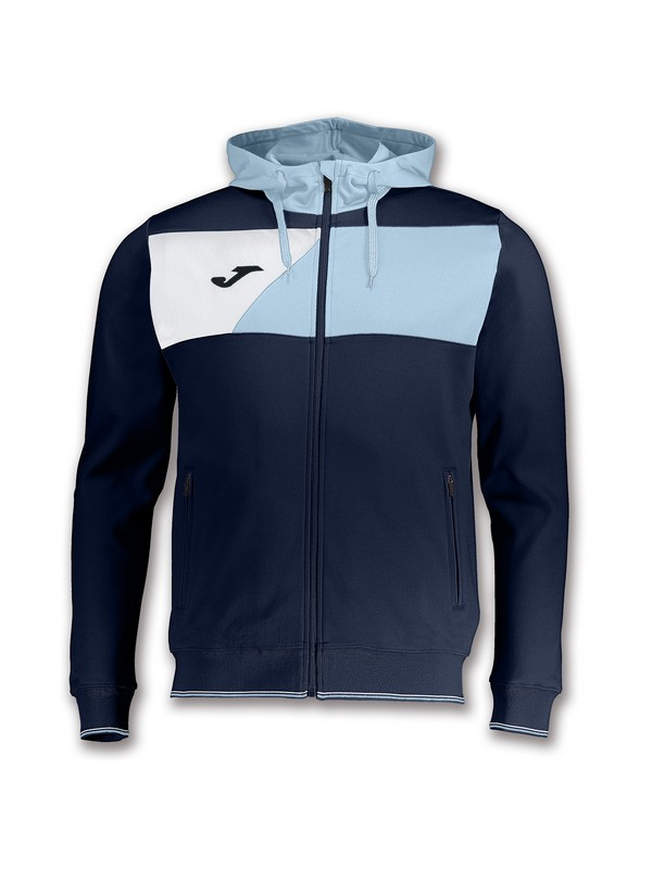 JOMA CHAQUETA CREW HOODED NAVY-SKY BLUE