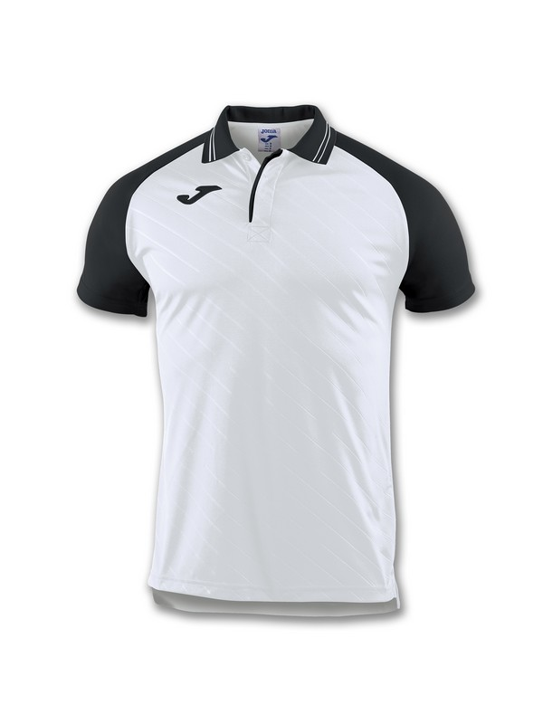 JOMA POLO TORNEO II S/S WHITE-BLACK