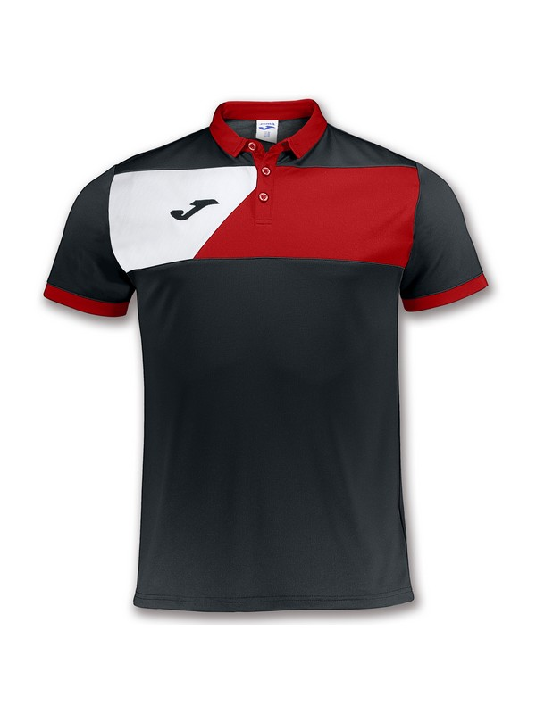 JOMA POLO CREW II BLACK-RED