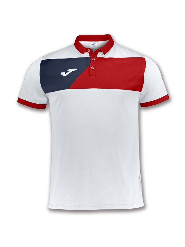 JOMA POLO CREW II WHITE-RED
