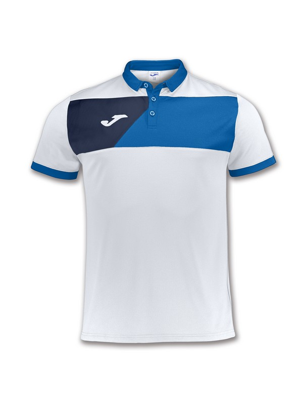 JOMA POLO CREW II WHITE-ROYAL