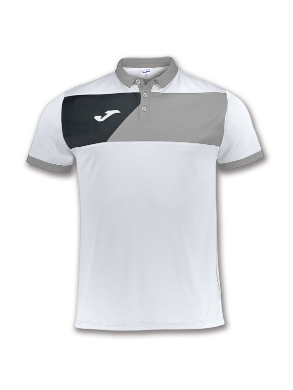 JOMA POLO CREW II WHITE-GREY