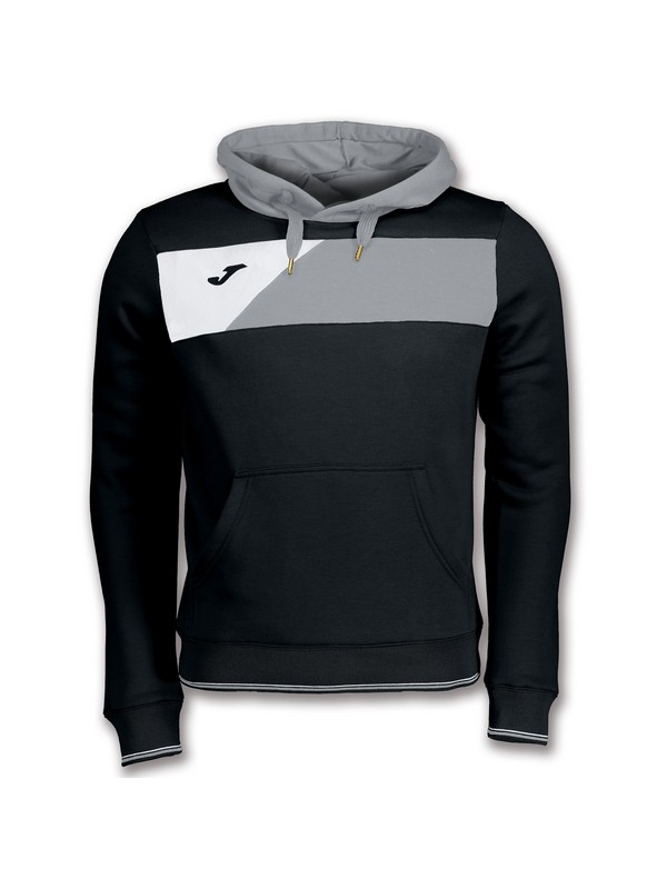 JOMA SWEATSHIRT CREW II HOODED BLACK-GREY