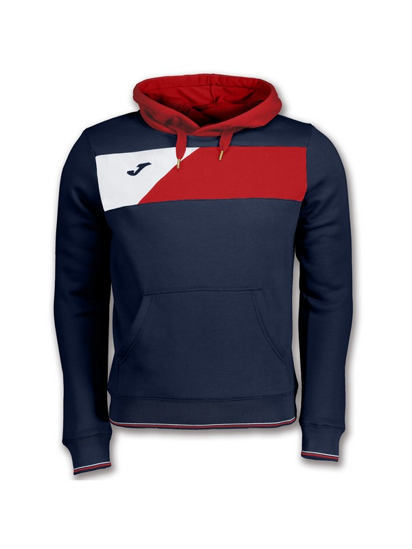 JOMA SWEATSHIRT CREW II HOODED NAVY-RED