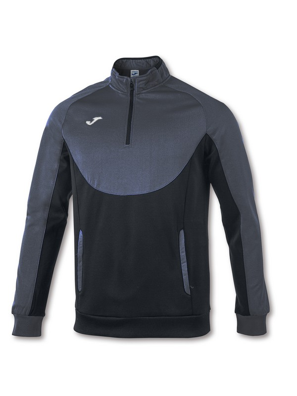 JOMA SWEATSHIRT ESSENTIA L 1/2 ZIPPER WHITE-BLACK
