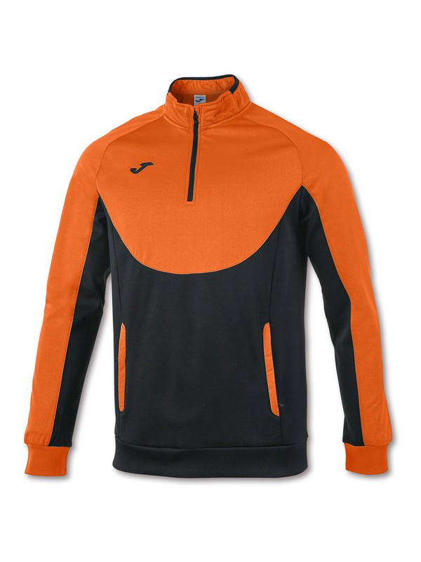 JOMA SWEATSHIRT ESSENTIA L 1/2 ZIPPER ORANGE-BLACK