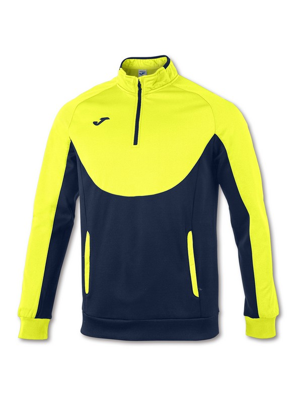 JOMA SWEATSHIRT ESSENTIA L 1/2 ZIPPER YELLOW-NAVY