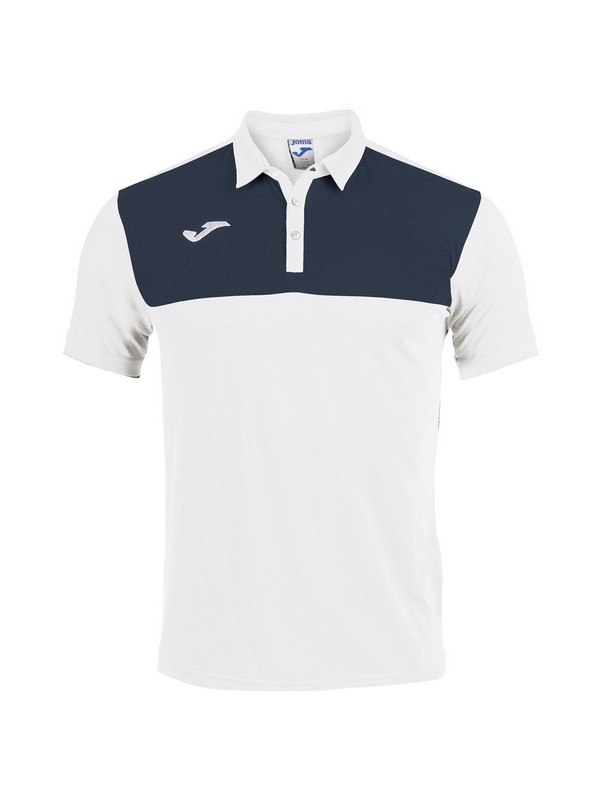 POLO SHIRT WINNER COTTON S/S WHITE-NAVY