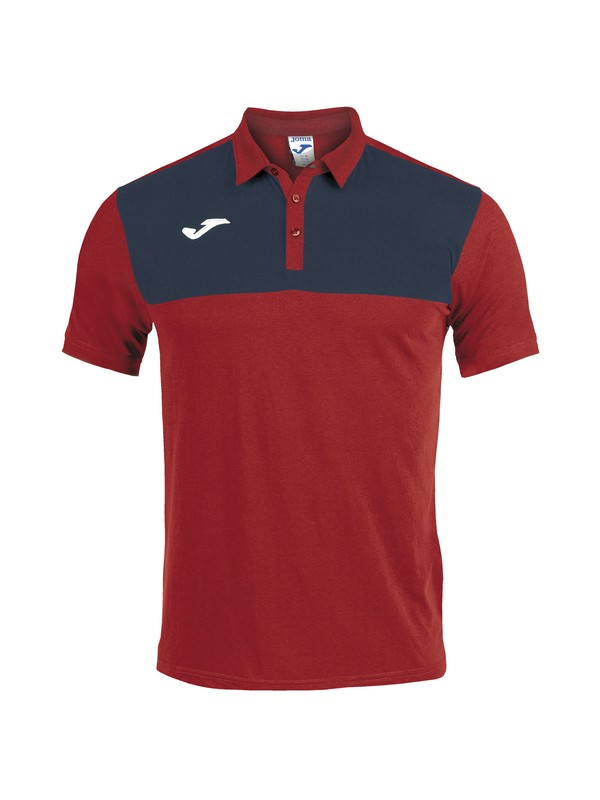 POLO SHIRT WINNER COTTON S/S RED-NAVY