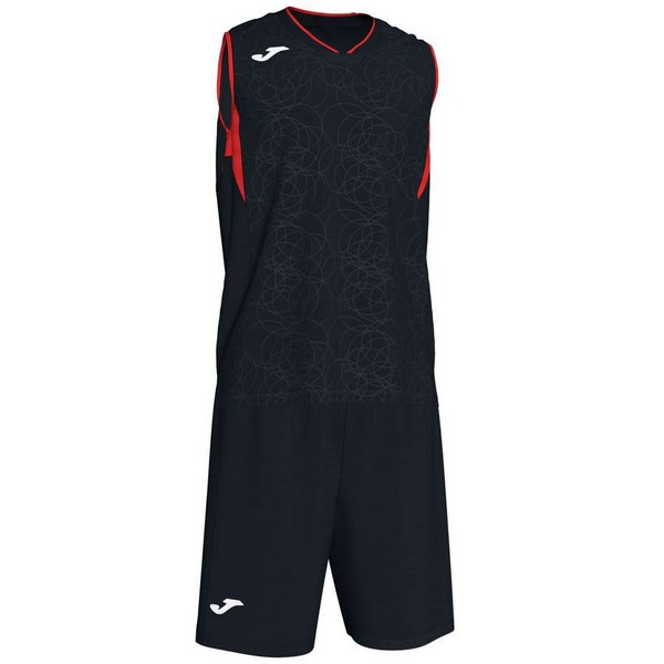 JOMA SPORT CAMISETA CAMPUS SET BASKET BLACK-RED