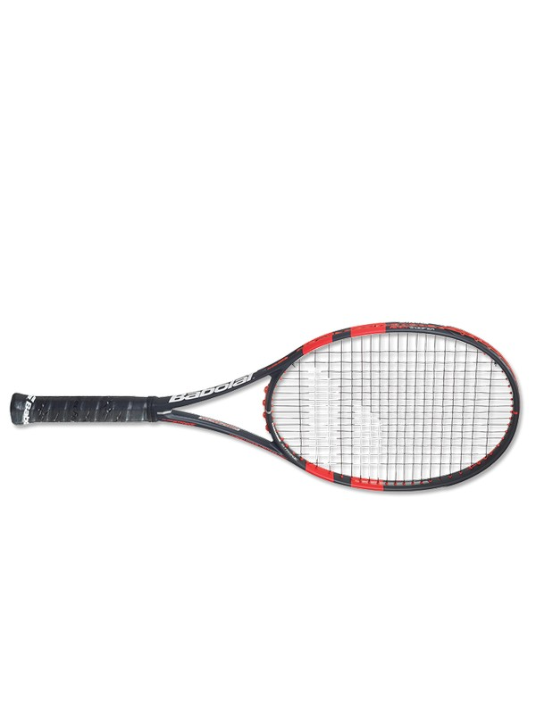BABOLAT RACQUET PURE STRIKE 16/19 STRUNG GRIS ROUGE FLUO