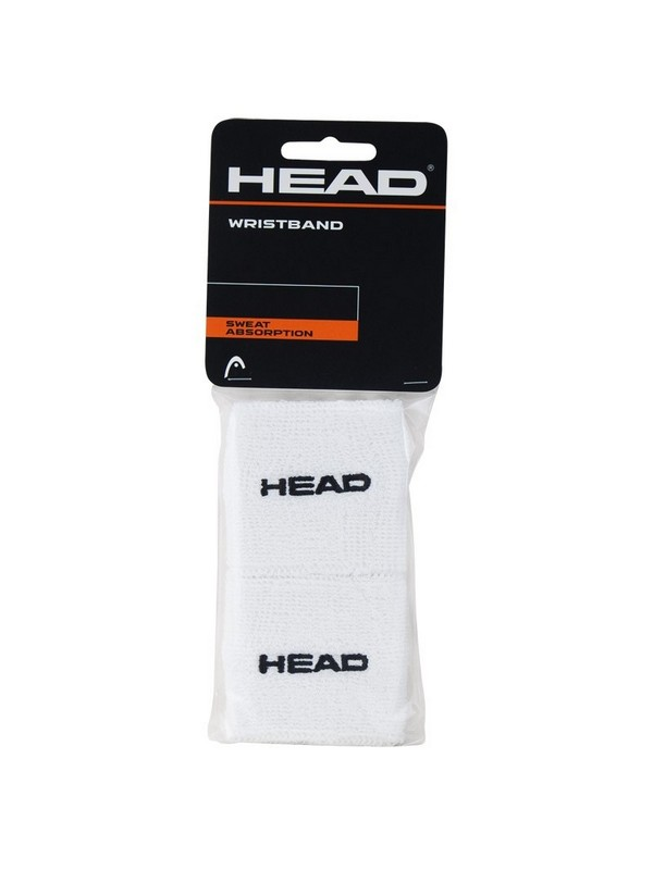 HEAD WRISTBAND 2.5 BK BLANC