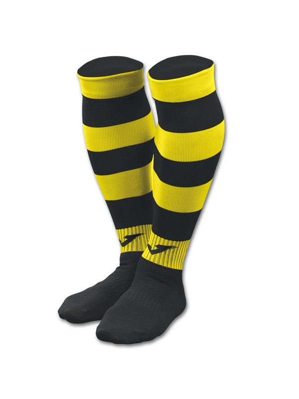 FOOTBALL SOCKS ZEBRA II BLACK-YELLOW