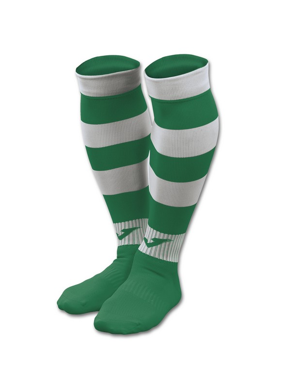 FOOTBALL SOCKS ZEBRA II GREEN-WHITE