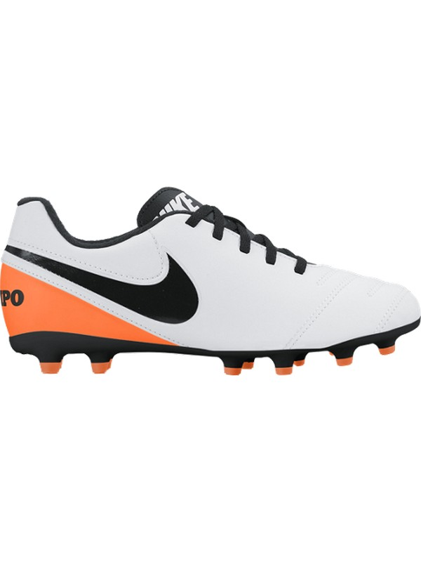 NIKE TIEMPO RIO III FG JUNIOR WHITE/BLACK-TOTAL ORANGE