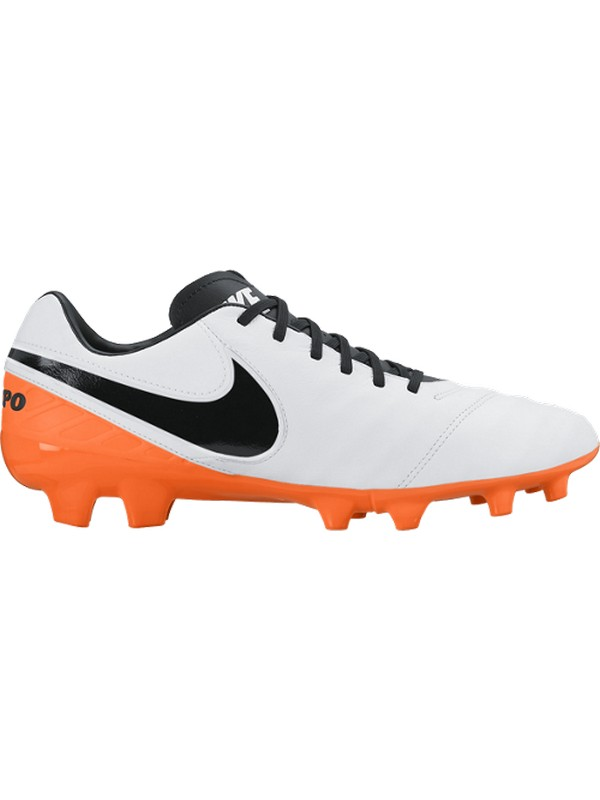 NIKE CALÇAT TIEMPO MYSTIC V FG WHITE/BLACK-TOTAL ORANGE