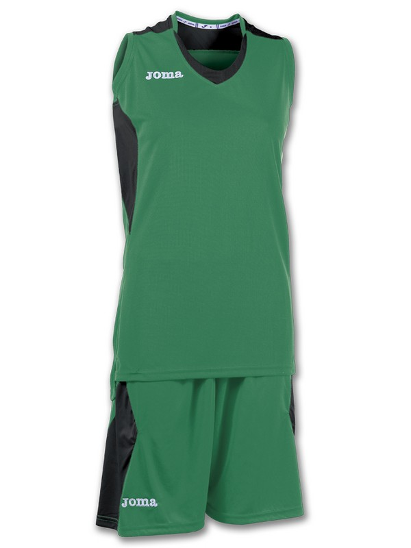 JOMA SET BASKET SPACE WOMEN VERDE-NEGRO