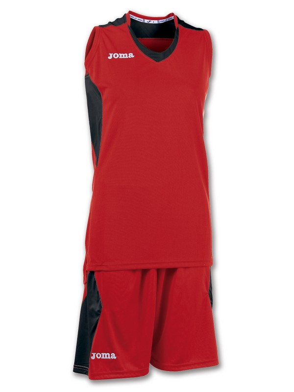 JOMA SET BASKET SPACE DONA ROJO-NEGRO