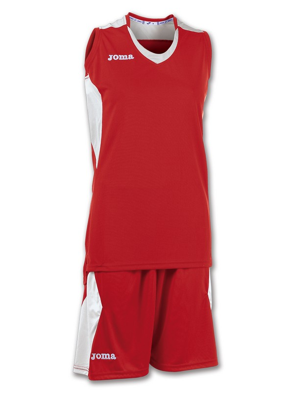JOMA SET BASKET SPACE WOMEN ROJO-BLANCO