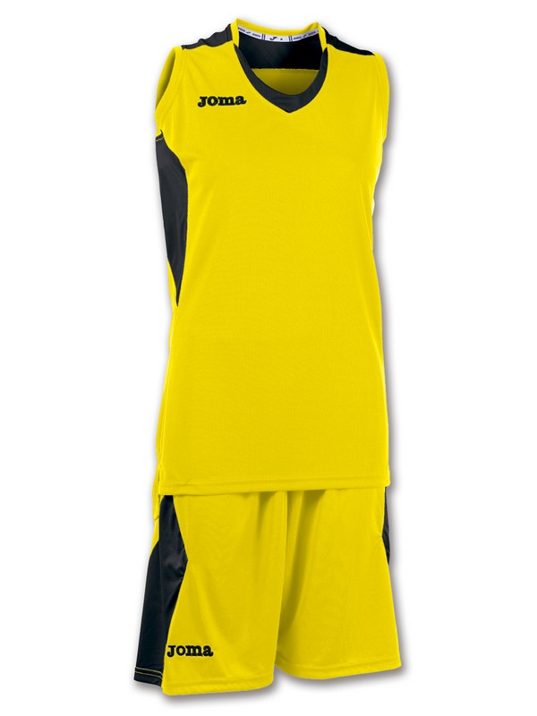 JOMA SET BASKET SPACE WOMEN AMARILLO-NEGRO