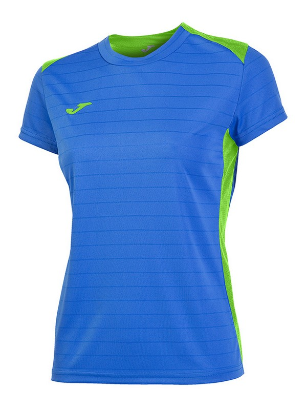 JOMA T-SHIRT CAMPUS II S.S WOMEN ROYAL-VERDE FLÚOR