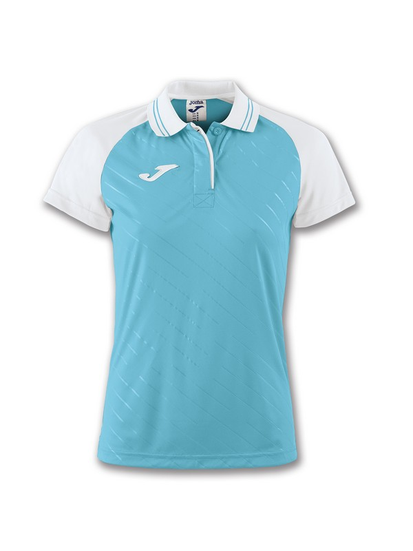 JOMA POLO TORNEO II S/S WOMAN WHITE-TURQUOISE
