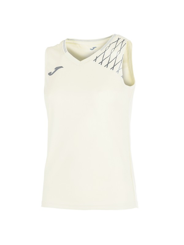 JOMA T-SHIRT OPEN FLASH SLEEVELESS WOMAN WHITE