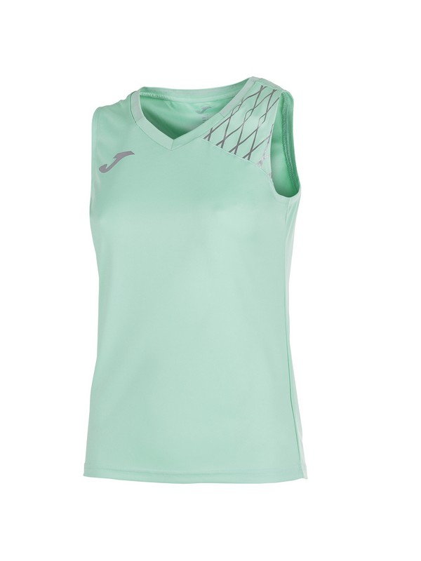 JOMA T-SHIRT OPEN FLASH SLEEVELESS WOMAN GREEN
