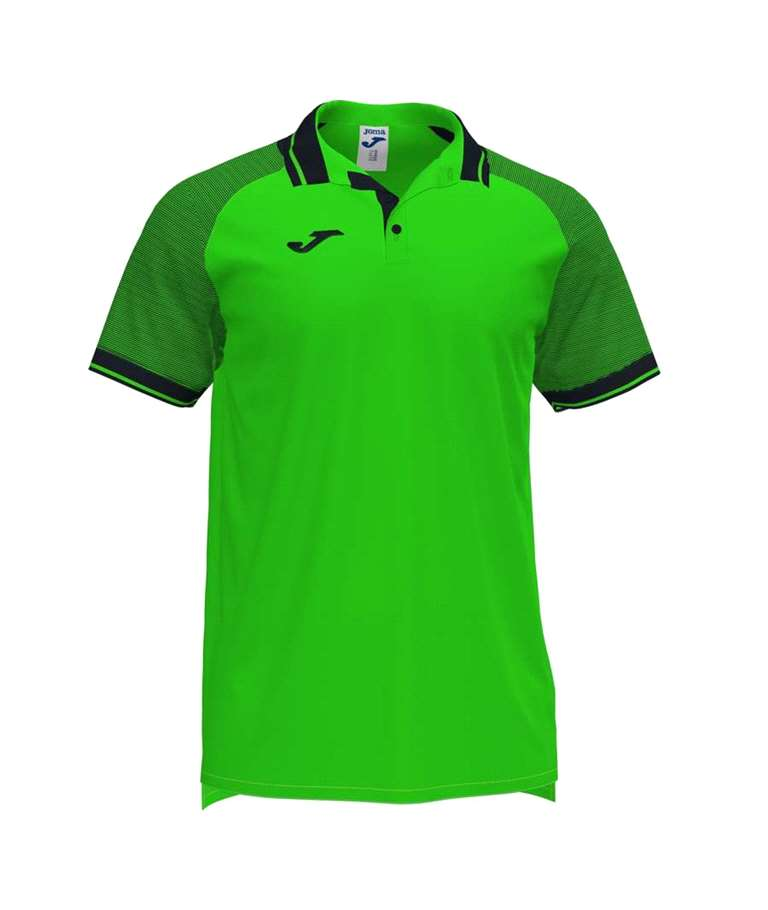 JOMA POLO ESSENTIAL II FLUOR GREEN/BLACK