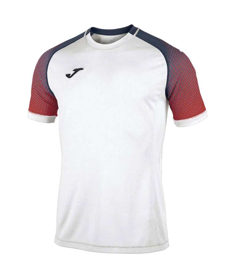 JOMA CAMISETA HISPA  WHITE / RED / DARK NAVY