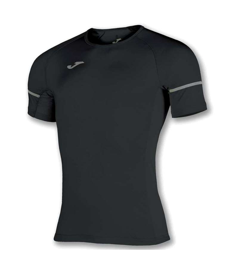 JOMA CAMISETA RACE REFLECTANT M/C NEGRO