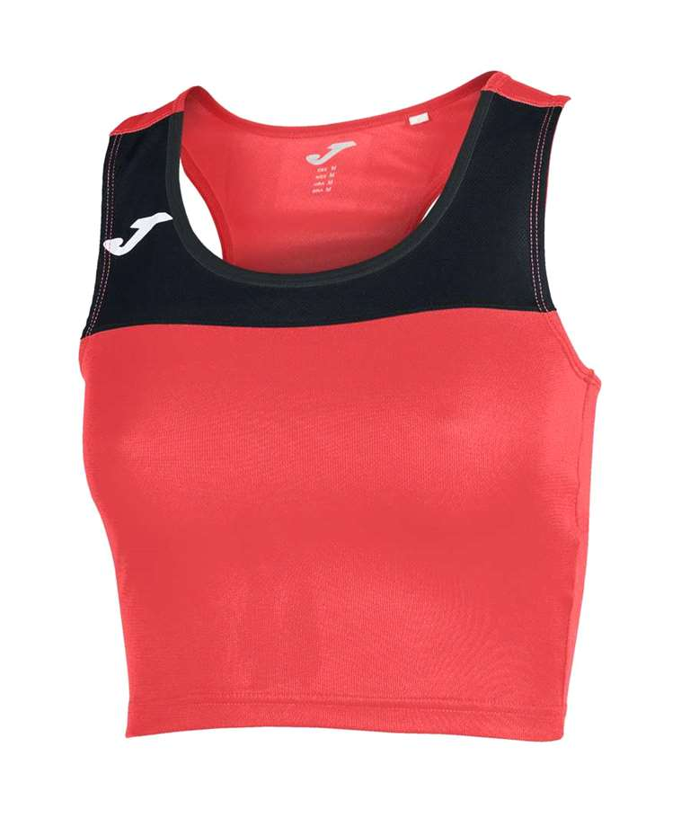 JOMA CAMISETA RACE S/M  MUJER CORAL-NEGRO