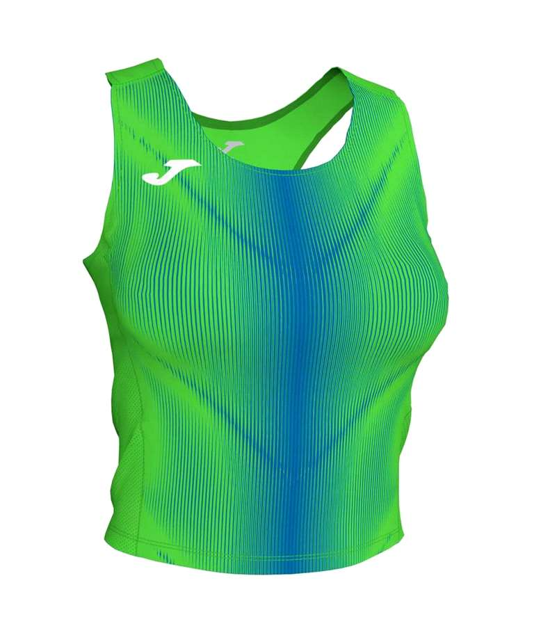 JOMA TOP OLIMPIA MUJER VERDE FLUOR-ROYAL